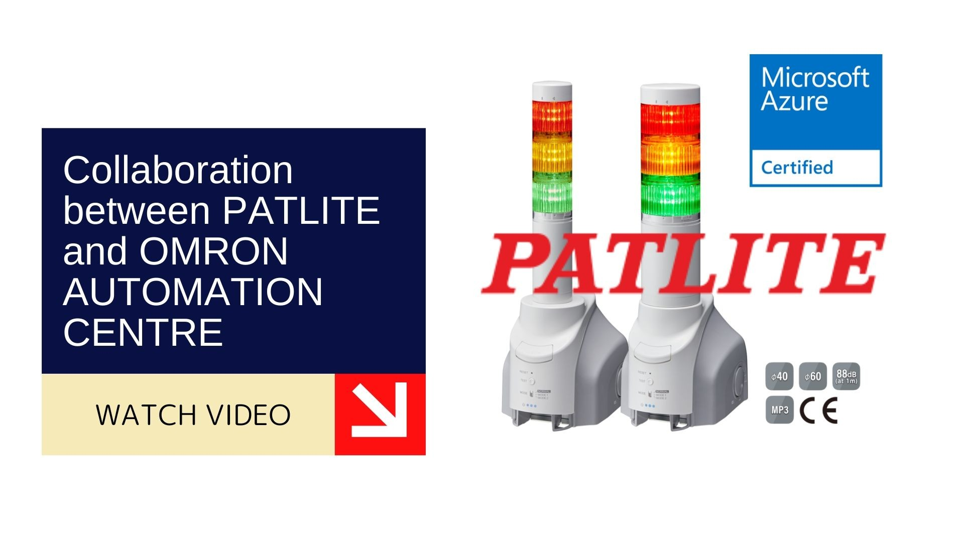 Collaboration between PATLITE and OMRON AUTOMATION CENTRE 1