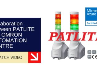 Collaboration between PATLITE and OMRON AUTOMATION CENTRE 9