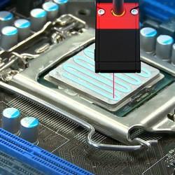 Heat conducting paste application