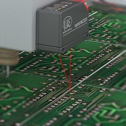 Measuring scribe lines on PCB panels